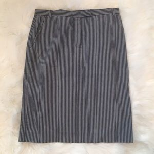 French Connection Stripped Pencil Skirt